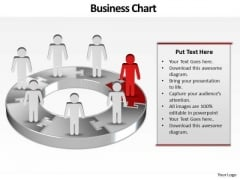 Ppt Circle Of Free Business PowerPoint Templates People With 3d Pie Chart