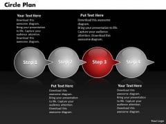 Ppt Circle PowerPoint Presentation Plan Through Bubbles 4 Steps Templates