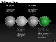 Ppt Circle Process Through Bubbles 4 Steps Working With Slide Numbers PowerPoint Templates