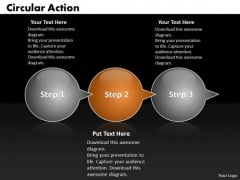 Ppt Circular Action Bubbles Horizontal 3 Practice The PowerPoint Macro Steps Templates