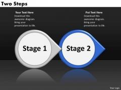 Ppt Circular Arrow Interpretation Of 2 Steps Involved Procedure PowerPoint Templates