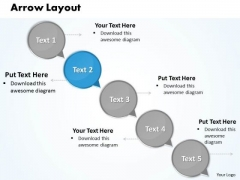 Ppt Circular Arrow Layout Of 5 Steps PowerPoint Templates