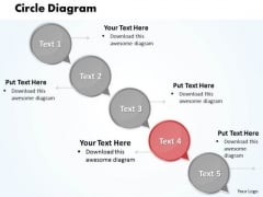 Ppt Circular Arrow Network Diagram PowerPoint Template Of 5 Steps Templates