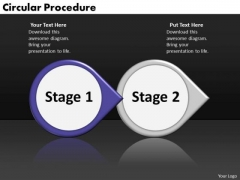 Ppt Circular Arrow Perception Of 2 Steps Involved Procedure PowerPoint Templates