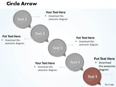 Ppt Circular Arrow Pie PowerPoint Presentation Chart Ks2 Of 5 Step Templates
