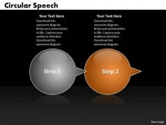 Ppt Circular Arrow Speech Bubbles 2 Phase Diagram PowerPoint Templates