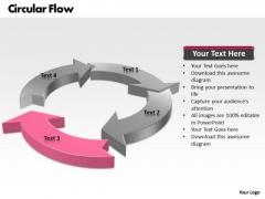 Ppt Circular Flow Process Layout 4 Power Point Stage PowerPoint Templates