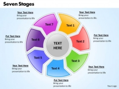 Ppt Circular Frame 7 State Diagram PowerPoint Templates