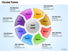 Ppt Circular Frame 8 State PowerPoint Project Diagram Templates