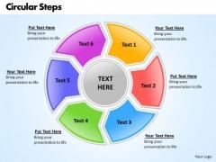 Ppt Circular Motion PowerPoint Process 6 Factors Templates