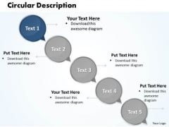Ppt Circular PowerPoint Menu Template Arrow Description Of 5 State Diagram Templates