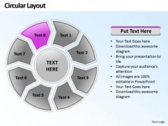 Ppt Circular PowerPoint Menu Template Layout 8 Stage Templates