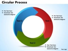 Ppt Circular PowerPoint Work Process Diagram 3 Phase Templates