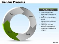 Ppt Circular Process Cycle Spider Diagram PowerPoint Template 4 Stages Templates