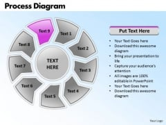 Ppt Circular Process Free Fishbone Diagram PowerPoint Template Templates