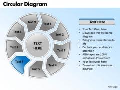 Ppt Circular Process Ishikawa Diagram PowerPoint Template Business Templates