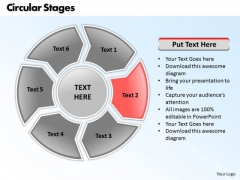 Ppt Circular Writing Process PowerPoint Presentation 6 Phase Diagram Templates