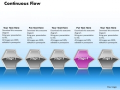 Ppt Collinear Flow Of Process Arrows 5 State Diagram Pink PowerPoint Video Templates