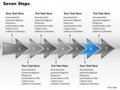 Ppt Colorful Arrows Describing Seven Create PowerPoint Macro Templates