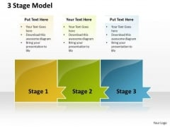 Ppt Colorful PowerPoint Background Model Of 3 Stage Templates
