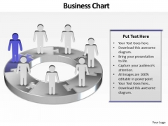 Ppt Company Of Business PowerPoint Theme People With 3d Pie Chart Templates