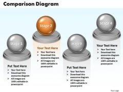 Ppt Comparison Diagram Of 4 Division PowerPoint Templates