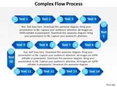 Ppt Complex Flow Process Network Diagram PowerPoint Template Templates
