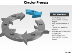 Ppt Components Of Circular Process Business Management PowerPoint 2 Templates