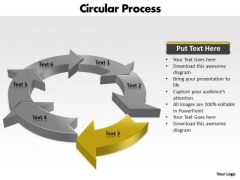 Ppt Components Of Circular Process Cause And Effect Diagram PowerPoint Template Templates