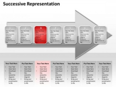 Ppt Consecutive Description Of Red Stage An Arrow PowerPoint Templates