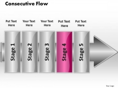 Ppt Consecutive Flow 5 Power Point Stage PowerPoint Templates