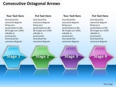 Ppt Consecutive Illustration Of Octagonal Arrows 4 Phase Diagram PowerPoint Templates