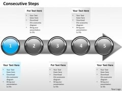 Ppt Consecutive Imitation Of Business Process Using 5 Power Point Stage PowerPoint Templates