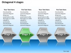 Ppt Consecutive Octagonal PowerPoint Graphics Arrows 4 Stage Templates
