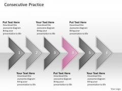 Ppt Consecutive Practice Of 6 Concepts Through Circular Arrows PowerPoint 2010 Templates