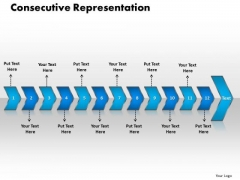 Ppt Consecutive Representation Of 12 PowerPoint Graphics Arrows Templates