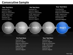 Ppt Consecutive Sample Of 5 Steps Through Curved Arrows PowerPoint 2010 Templates