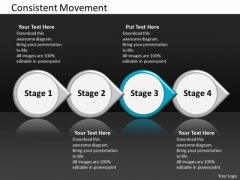 Ppt Consistent Movement Of Four State Diagram Involved Procedure PowerPoint Templates