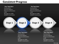 Ppt Consistent Progress Of Four Stages Involved Procedure PowerPoint Templates