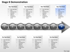 Ppt Consistent Representation Of Marketing Process Using 8 Stages 9 PowerPoint Templates