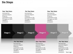 Ppt Consistent Way To Anticipate Marketing Losses Six Steps PowerPoint Templates