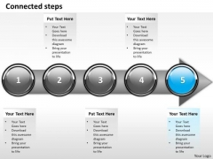 Ppt Continual Imitation Of Development Process Using 5 Stages PowerPoint Templates