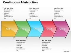 Ppt Continuous Abstraction By 5 Circular Arrows PowerPoint 2010 Templates