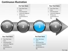Ppt Continuous Demonstration Of Business Process Using 4 Power Point Stage PowerPoint Templates