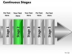 Ppt Continuous Flow 5 Phase Diagram PowerPoint Templates