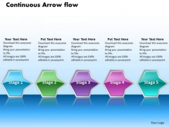 Ppt Continuous Flow Of Octagonal Curved Arrows PowerPoint 2010 5 Stages Templates