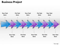 Ppt Continuous Imitation Of Business Project Using 10 Phase Diagram PowerPoint Templates