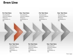 Ppt Correlated Arrows PowerPoint Templates Even Line 7 Stages