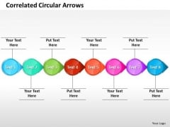 Ppt Correlated Circular Arrows PowerPoint Templates Horizontal Line 8 Stages