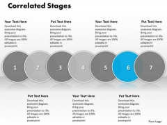 Ppt Correlated Seven State Diagram Of World Concept Process PowerPoint Templates